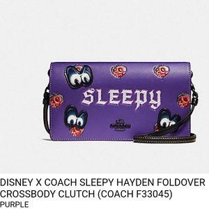 Coach Disney Black Fairytale Sleepy Crossbody NWT